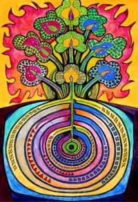 Art by David Friedman http://www.kosmic-kabbalah.com/pages/posters_tree_of_life.htm
